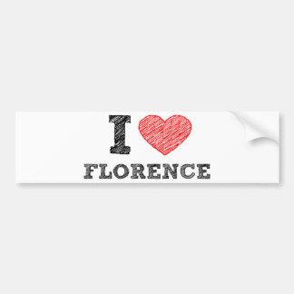 Amo Florencia Pegatina Para Coche