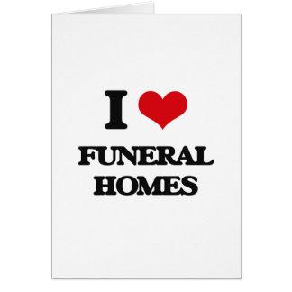 Amo funerarias tarjeta de felicitación