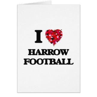 Amo fútbol de la grada tarjeta de felicitación