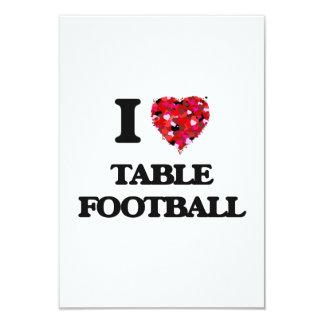 Amo fútbol de la tabla invitación 8,9 x 12,7 cm