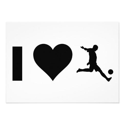 Amo fútbol invitaciones personales