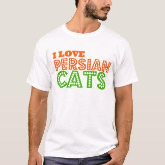 Amo gatos persas camiseta