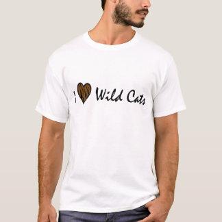 Amo gatos salvajes camiseta
