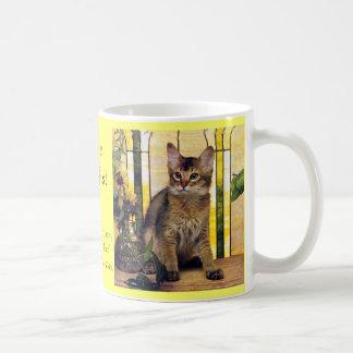 Amo gatos somalíes taza de café