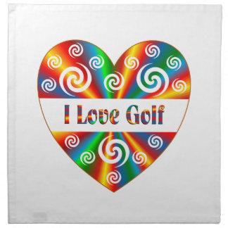Amo golf servilleta de tela