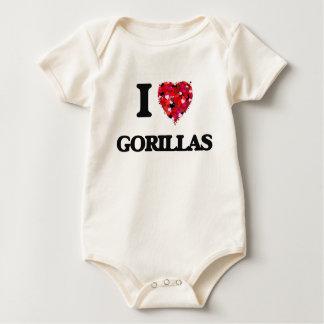 Amo gorilas body para bebé