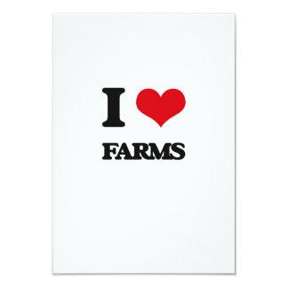 Amo granjas invitación 8,9 x 12,7 cm