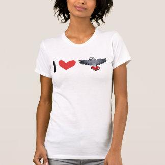 Amo grises africanos/los Amazonas/los loros Camiseta