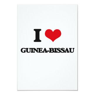 Amo Guinea-Bissau Invitación 8,9 X 12,7 Cm
