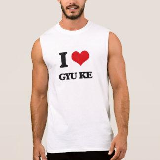Amo GYU KE Camisetas Sin Mangas