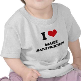 Amo hago los bocadillos camiseta