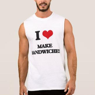 Amo hago los bocadillos camiseta sin mangas