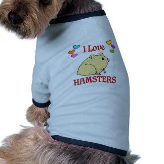 Amo hámsteres camisas de mascota