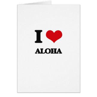 Amo hawaiana tarjeta