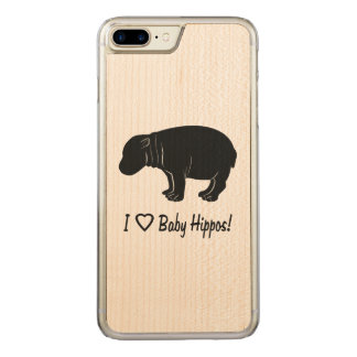 Amo hipopótamos del bebé funda para iPhone 8 plus/7 plus de carved