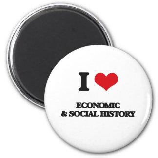 Amo historia económica y social imán redondo 5 cm