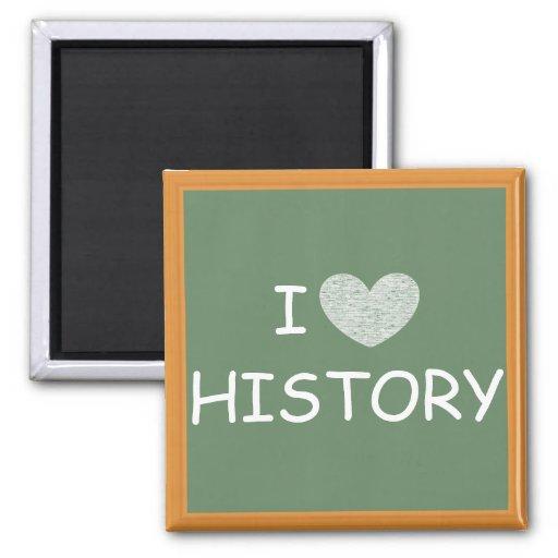 Amo historia imanes para frigoríficos