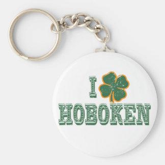 Amo Hoboken - el día de St Patrick Llavero Redondo Tipo Chapa