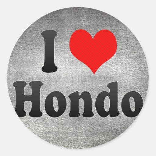 Amo Hondo, Japón. Aisuru Hondo, Japón Etiquetas Redondas
