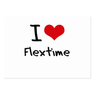 Amo horario flexible tarjeta de negocio