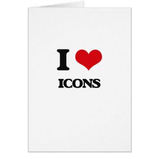 Amo iconos tarjeta de felicitación