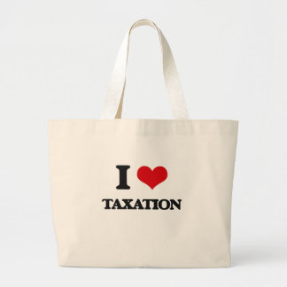 Amo impuestos bolsa tela grande
