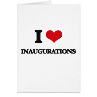 Amo inauguraciones tarjeta de felicitación