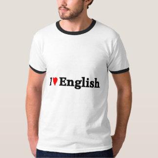 Amo inglés camiseta