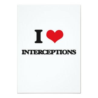 Amo interceptaciones invitación 12,7 x 17,8 cm