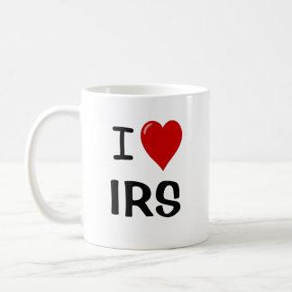 Amo IRS - corazón IRS de I - taza del impuesto
