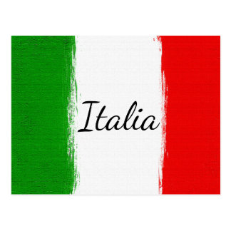 Amo Italy.Flag de Italia Postal