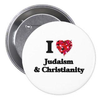 Amo judaísmo y cristianismo chapa redonda 7 cm