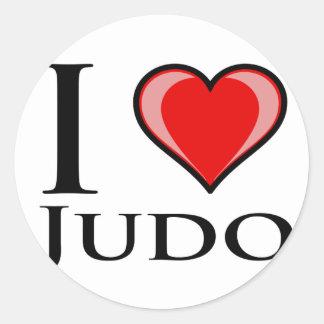 Amo judo pegatinas