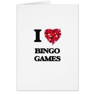 Amo juegos del bingo tarjeta de felicitación
