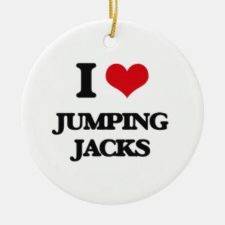 Amo Jumping Jacks Adorno Redondo De Cerámica