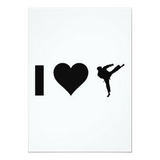Amo karate invitación 12,7 x 17,8 cm