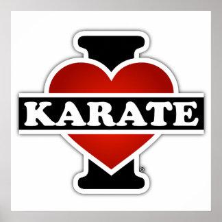 Amo karate póster