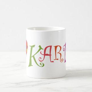 Amo karmas taza de café