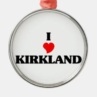 Amo Kirkland Adorno Redondo Plateado