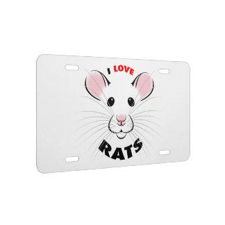Amo kmcoriginals de la placa de las ratas
