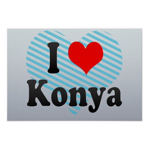 Amo Konya, Turquía. Seviyorum Konya, Turquía Poster