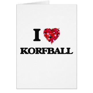 Amo Korfball Tarjeta De Felicitación