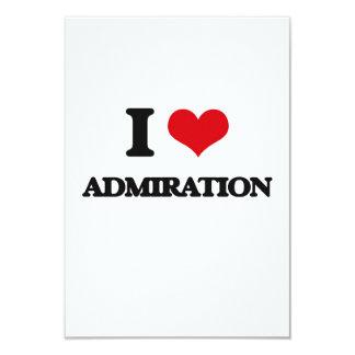 Amo la admiración invitación 8,9 x 12,7 cm