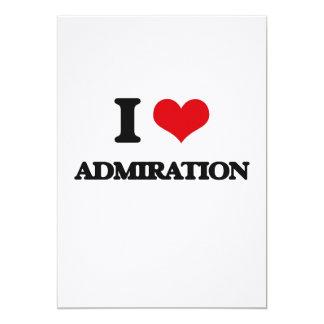 Amo la admiración invitación 12,7 x 17,8 cm