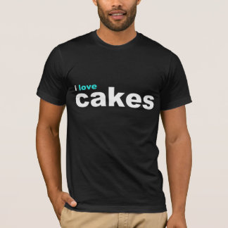 amo la aguamarina de las tortas camiseta