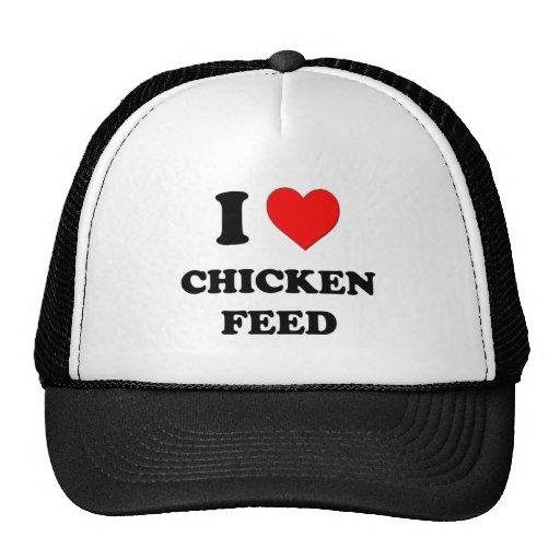 Amo la alimentación de pollo gorro