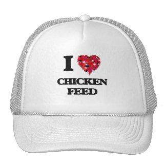 Amo la alimentación de pollo gorros