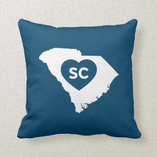 Amo la almohada de tiro del estado de Carolina del