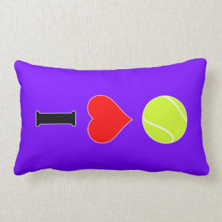 Amo la almohada del Lumbar del tenis (del corazón)