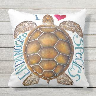 Amo la almohada en peligro de la especie